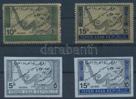 Refugees 2 stamps + 2 diff stamps from blocks, Menekültek sor 2 értéke + 2 klf blokkból kivágott érték