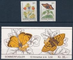 1993-1994 Lepke sor és bélyegfüzet 1993-1994 Butterfly set and stamp booklet