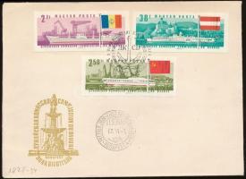 1967 Duna-Bizottság vágott sorból 3 érték FDC