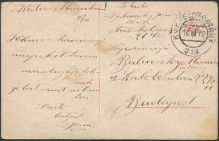 1916 Tábori posta képeslap FP 214