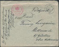 ~1915 Tábori posta levél K.u.k. Brückenkopf kommando PRZEMYSL + FP 169