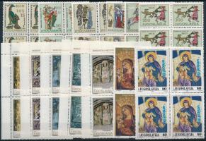 1964-1992 Művészet motívum 13 klf 4-es tömb