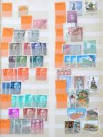 Csehszlovák összeállítás kevés spanyol bélyeggel 8 lapos A4-es berakóban