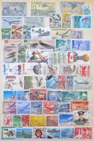 Vegyes világ összeállítás európai és tengerentúli bélyegekből egyaránt, 8 lapos A4-es berakóban