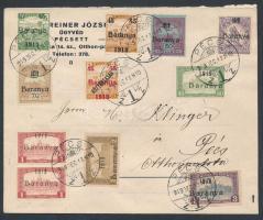 1919 Baranya megszállás helyi levélen / Local cover Signed: Bodor (sérült boríték / damaged envelope)