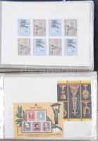 159 db blokk a 70-es 80-as évekből (fajtánként max. 2) 2 db Abria levélberakóban