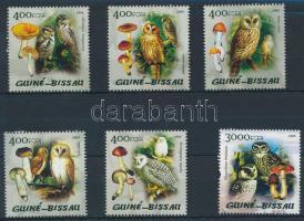 2005 Gombák és baglyok sor 5 értéke Mi 2888-2894 (hiányzik/missing Mi 2893)