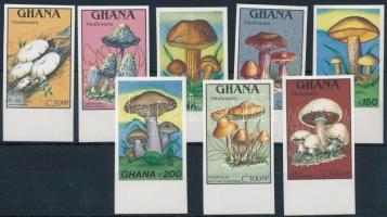 Mushrooms imperf margin set, Gombák vágott ívszéli sor
