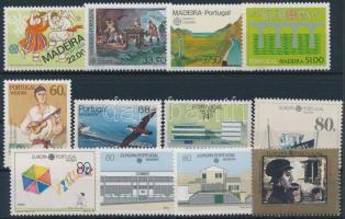 1981-1992 Europa CEPT 12 diff stamps, 1981-1992 Europa CEPT motívum 12 klf bélyeg