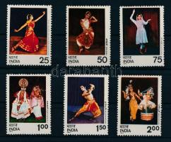 1975 Indiai táncok sor Mi 646-651