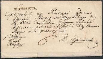 1843 Portós levél / Unpaid cover W:UIHELY - B.Gyarmath