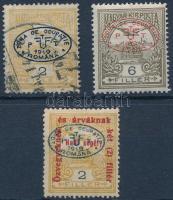 Debrecen I. 1919 Turul 2f, 6f és Hadisegély II. 2f garancia nélkül (**80.000)