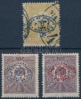 Debrecen I. 1919 Turul 2f és 2 klf Postatakarék garancia nélkül (**57.000)