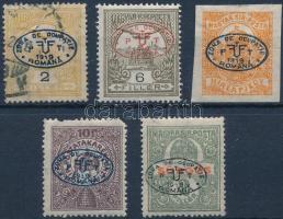Debrecen I. 1919 Turul 2f, 6f, Hírlap, Postatakarék, Sürgős, garancia nélkül (**57.800)