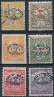 Debrecen I. 1919 Turul 2f, 6f, Hírlap, Sürgős, Fehérszámú Arató 10f és 15f garancia nélkül (**82.800)