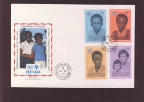 International year of the child set FDC, Nemzetközi gyermekév sor FDC, Internationales Jahr des Kindes Satz FDC