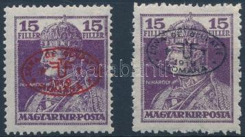 Debrecen I. 1919 2 klf Károly 15f garancia nélkül (**75.000)