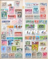 Sport motívum gyűjtemény sportáganként gyűjtve 24 lapos nagy berakó 35 oldalán