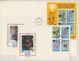 1979 Nemzetközi gyermekév sor+blokk FDC