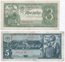 Szovjetunió 1938. 3R + 5R T:III Soviet Union 1938. 3 Rubles + 5 Rubles C:F Krause 214; 215