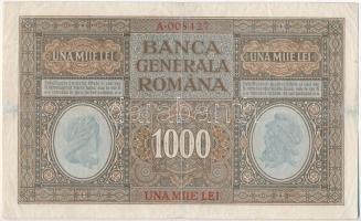 Románia / Német megszállás 1917. 1000L T:III apró szakadás Romania / German occupation 1917. 1000 Lei C:F small tear Krause M8