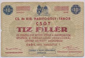 Csót / Hadifogolytábor 1916. augusztus 1. 10f számozás nélkül T:III- ly.