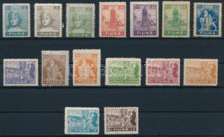 1919 15 klf Forgalmi érték Mi 32-45, 47