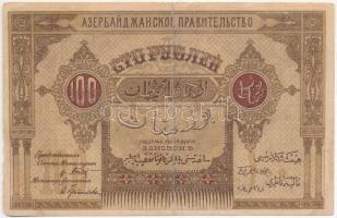 Azerbajdzsán / Autonóm Köztársaság 1919. 100R T:III Azerbaijan / Autonomous Republic 1919. 100 Rubles C:F Krause 5