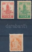 Definitive 3 diff stamps, 3 klf Forgalmi érték