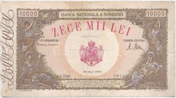 Románia 1946. 10.000L T:III Romania 1946. 10.000 Lei C:F Krause 57