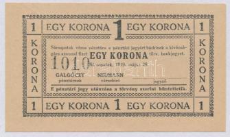 Sárospatak 1919. 1K számozott T:II