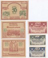 Ausztria / Krummnusbaum 1920. 10h-50h (3xklf) + Lambach 1920. 10h-50h (3klf) szükségpénzek T:I-II tűly., ragasztásnyom Austria / Krummusbaum 1920. 10 Heller - 50 Heller (3xdiff) + Lambach 1920. 10 Heller - 50 Heller (3xdiff) necessity notes C:UNC-XF needle hole, gluemark