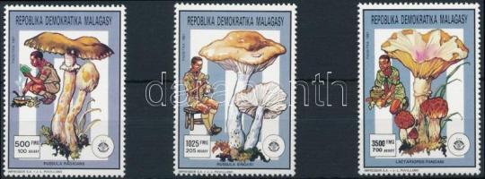 1991 Gomba sor 3 értéke Mi 1310 + 1312 + 1314 A