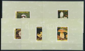 1985 Gomba sor blokk formában Mi 962-966