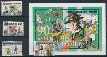 1998 Gomba sor 4 értéke Mi 1500-1503 + blokk Mi