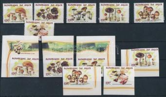 1998 Gomba fogazott+ívsarki vágott sor Mi 1542-1547