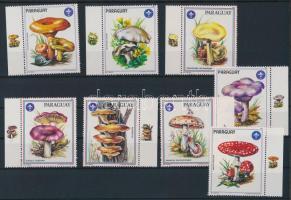 Paraguay 1984 8 db gombát ábrázoló címke