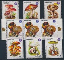 Mushroom set + 1 value in stripe of 3, Gomba sor + 1 értek ívszéli hármascsíkban
