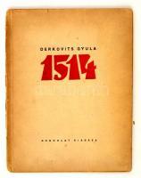 Derkovits Gyula (1894-1934): 1514. 11 fametszetet tartalmazó mappa. Bp., 1936. Gondolat kiadás. Teljes, fametszet, 21x27 cm