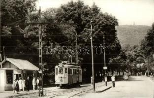 Budapest XII. Zugliget, János-hegy, villamos, Képzőművészeti Alap kiadása