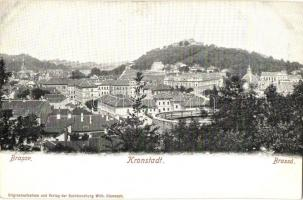 Brassó, Kronstadt, Brasov; Látkép, Wilh. Hiemesch kiadása / general view (fl)