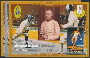 2007/53 50 éve halt meg Rády József 3 klf emlékív (12.500)