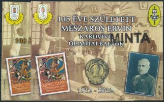 2012 Mészáros Ervin 2 db MINTA emlékív sorszám nélkül