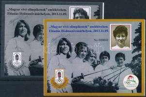2013 Magyar vívó olimpikonok emlékívpár azonos sorszámmal + 2 fénymásolat