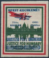1932 Justice for Hungary légiposta levélzáró