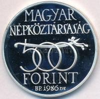 1986. 500Ft Ag Budavár visszavétele 1686 T:PP felületi karc Adamo EM97