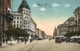 Budapest VIII. József körút, villamos, automobil (EK)