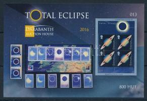 2016 Total Eclipse (Napfogyatkozás) angol nyelvű emlékív (ssz.: 013)