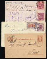 Ausztria 1881-1921 4 klf levél és képeslap
