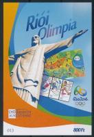 2016 Riói olimpia emlékív (ssz.: 013)